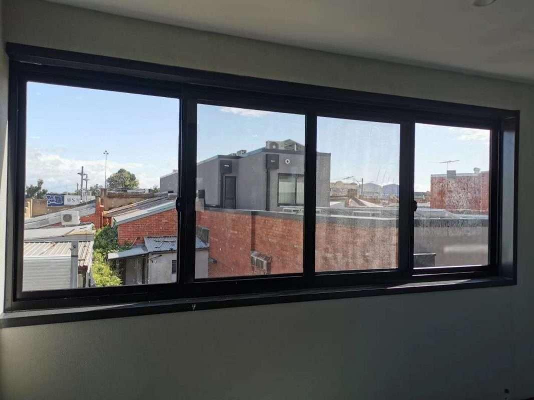 Barry Building Securities Glass Window