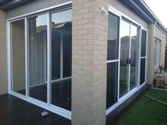 Barry Building Securities Glass Door
